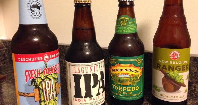 IPA Tasting #2: Descutes, Lagunitas, Sierra Nevada, New Belgium