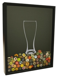beer cap shadow box