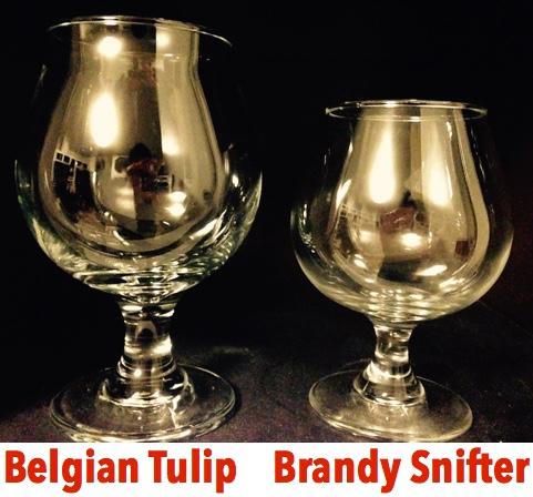 belgian tulip vs brandy snifter