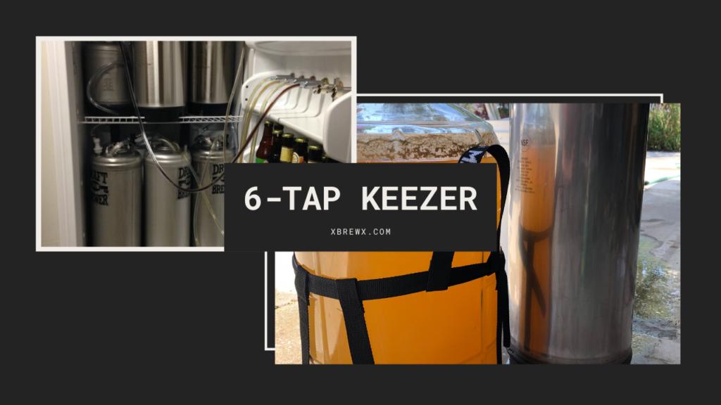 6-Tap Keezer homebrew