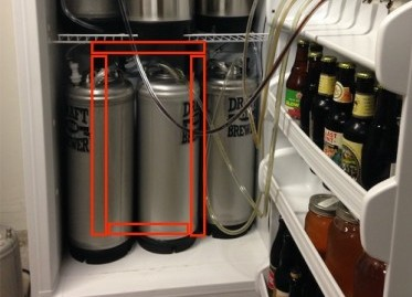 6 tap kegerator freezer (plus wood outline)