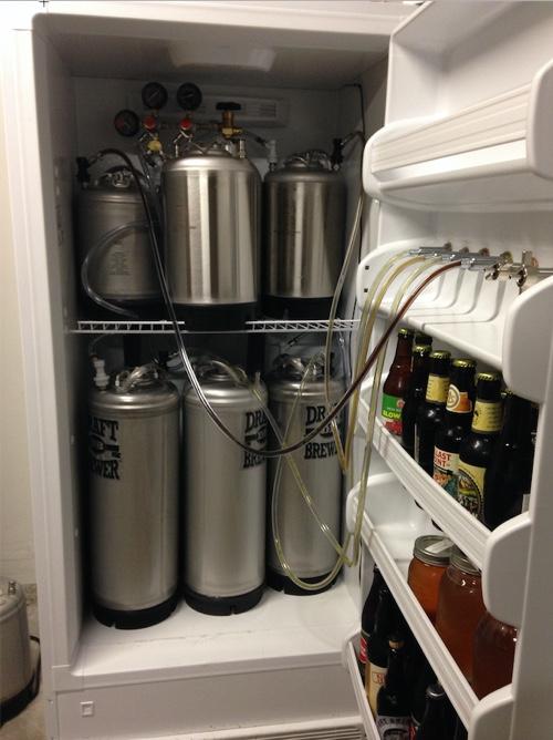 6 tap kegerator freezer
