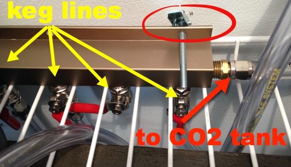 co2 tank keg lines