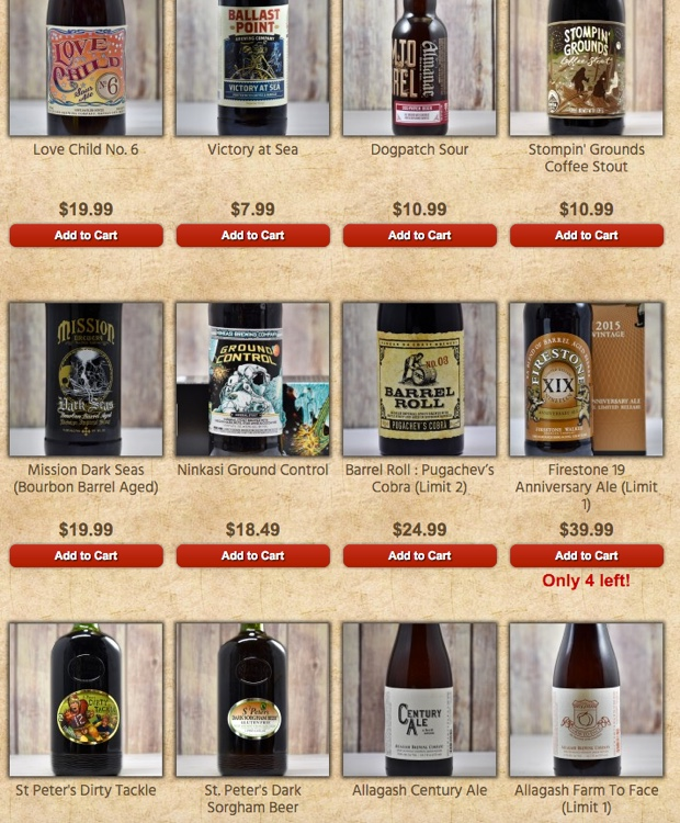 cbk beer selections