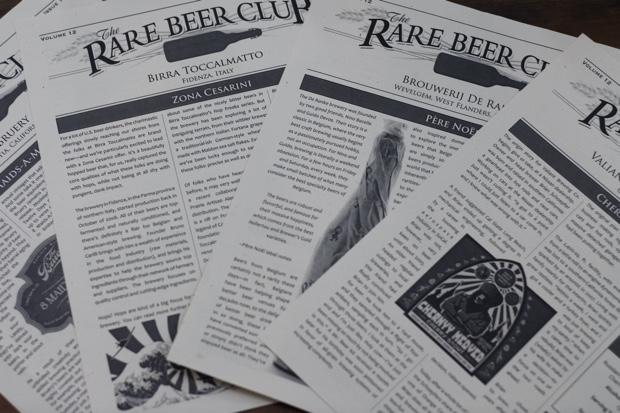 rare beer club literature