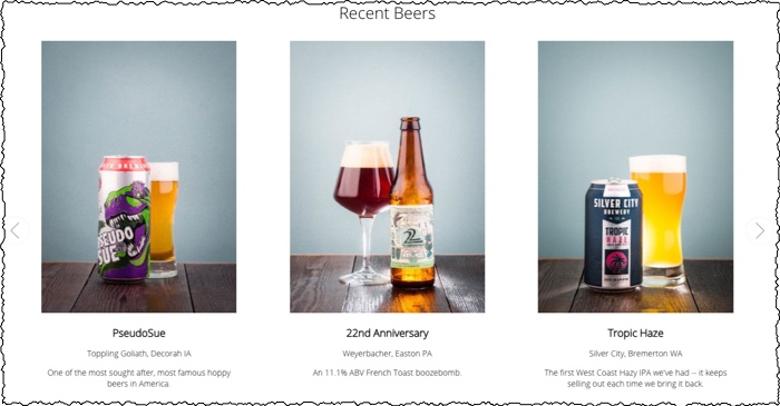 tavour recent beer selection