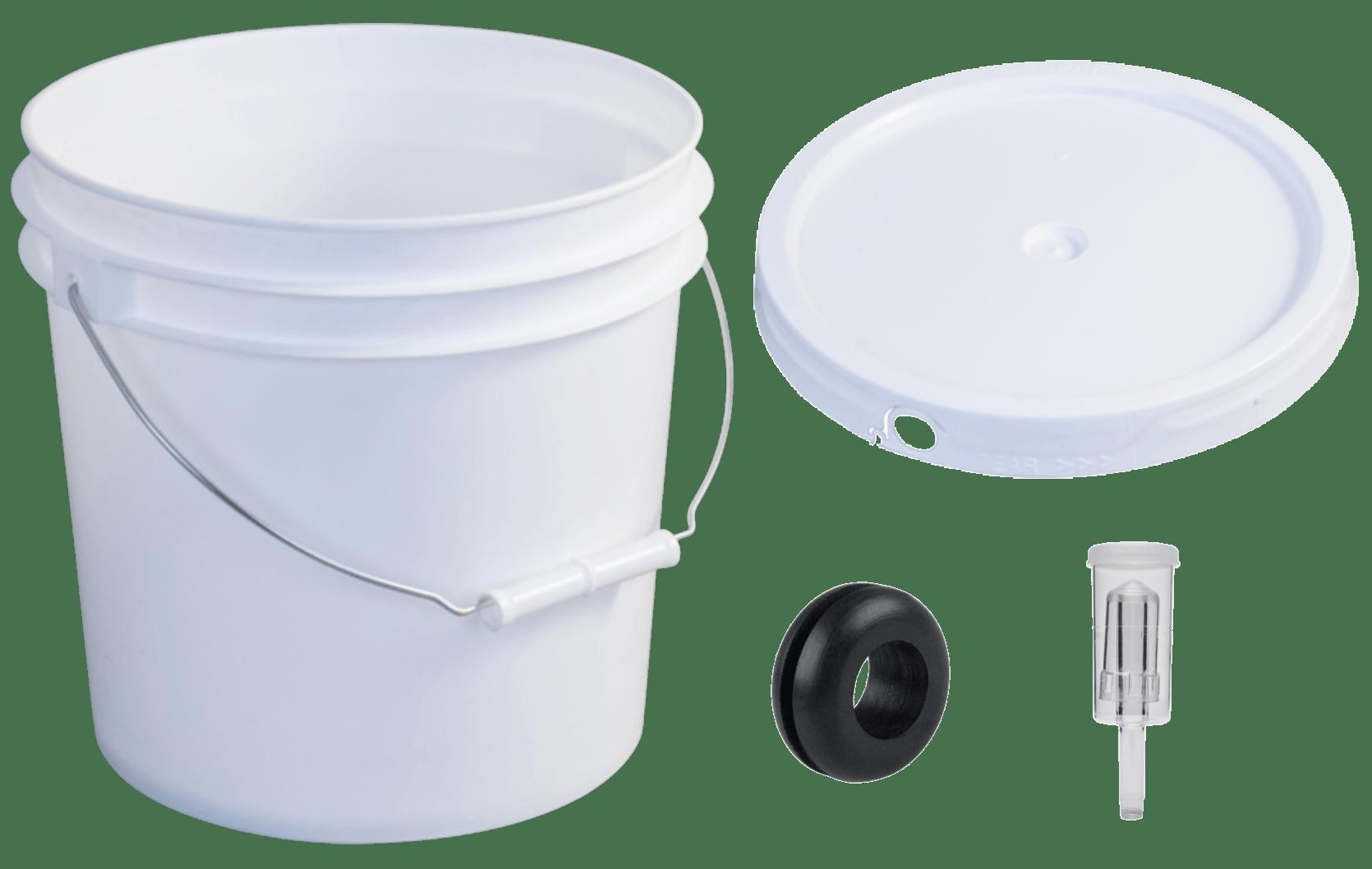 equipment needed for plastic bottling bucket and airlock