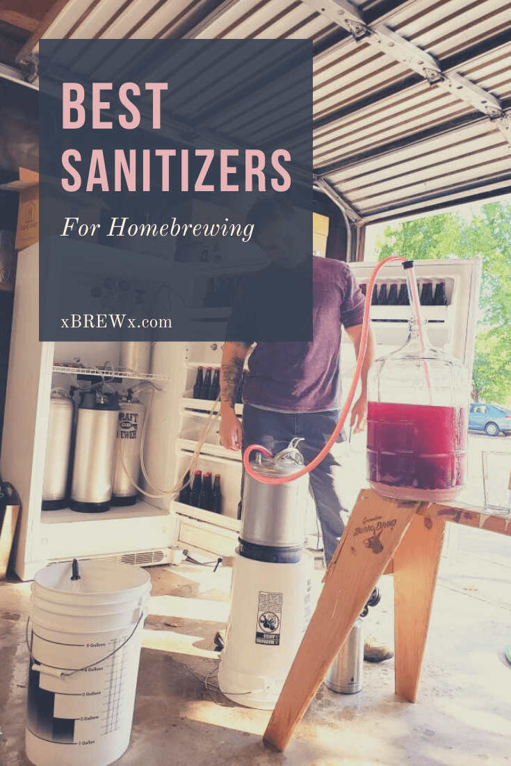 sanitized homebrewing equipment being used to transfer cherry cider from carboy to keg