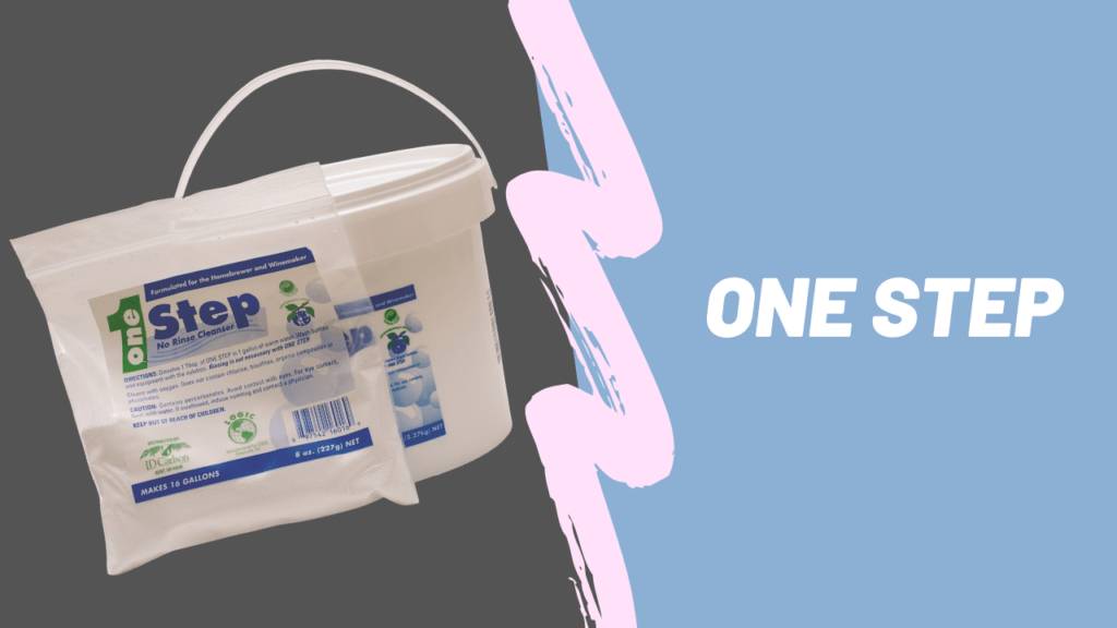 one step sanitizer in bucket and bag
