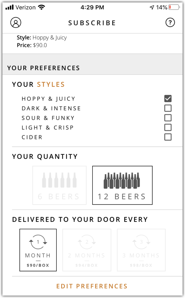 tavour ipa month club screenshot iphone