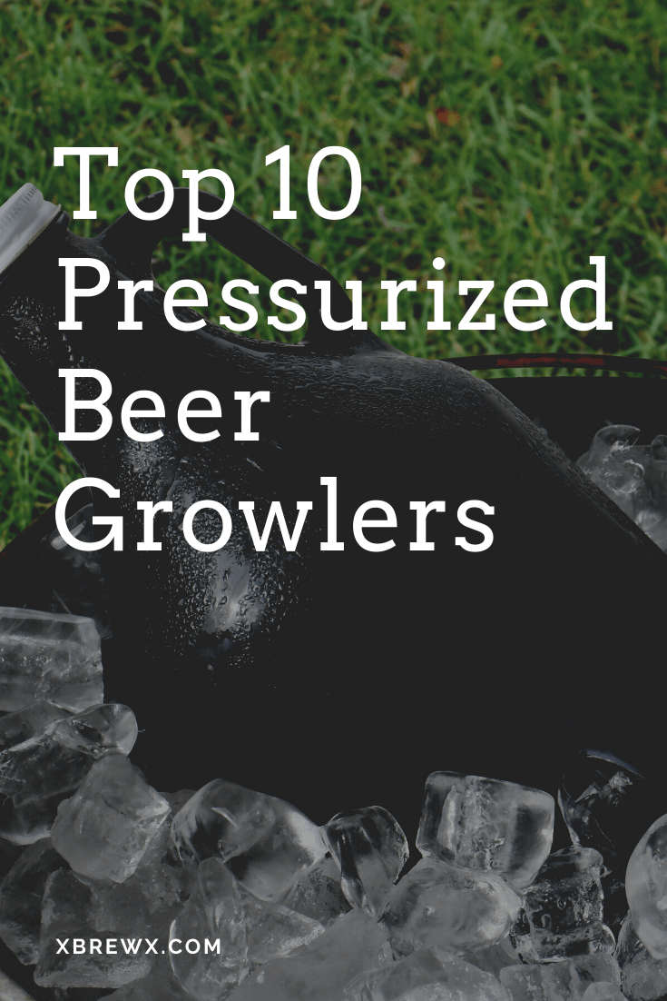 pressurized beer growler sitting in ice bucket