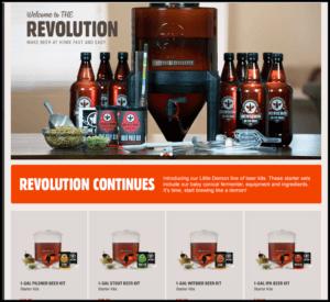 brew demon little demon 1-gallon beer kits