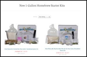 brew naturally 1 gallon starter kits