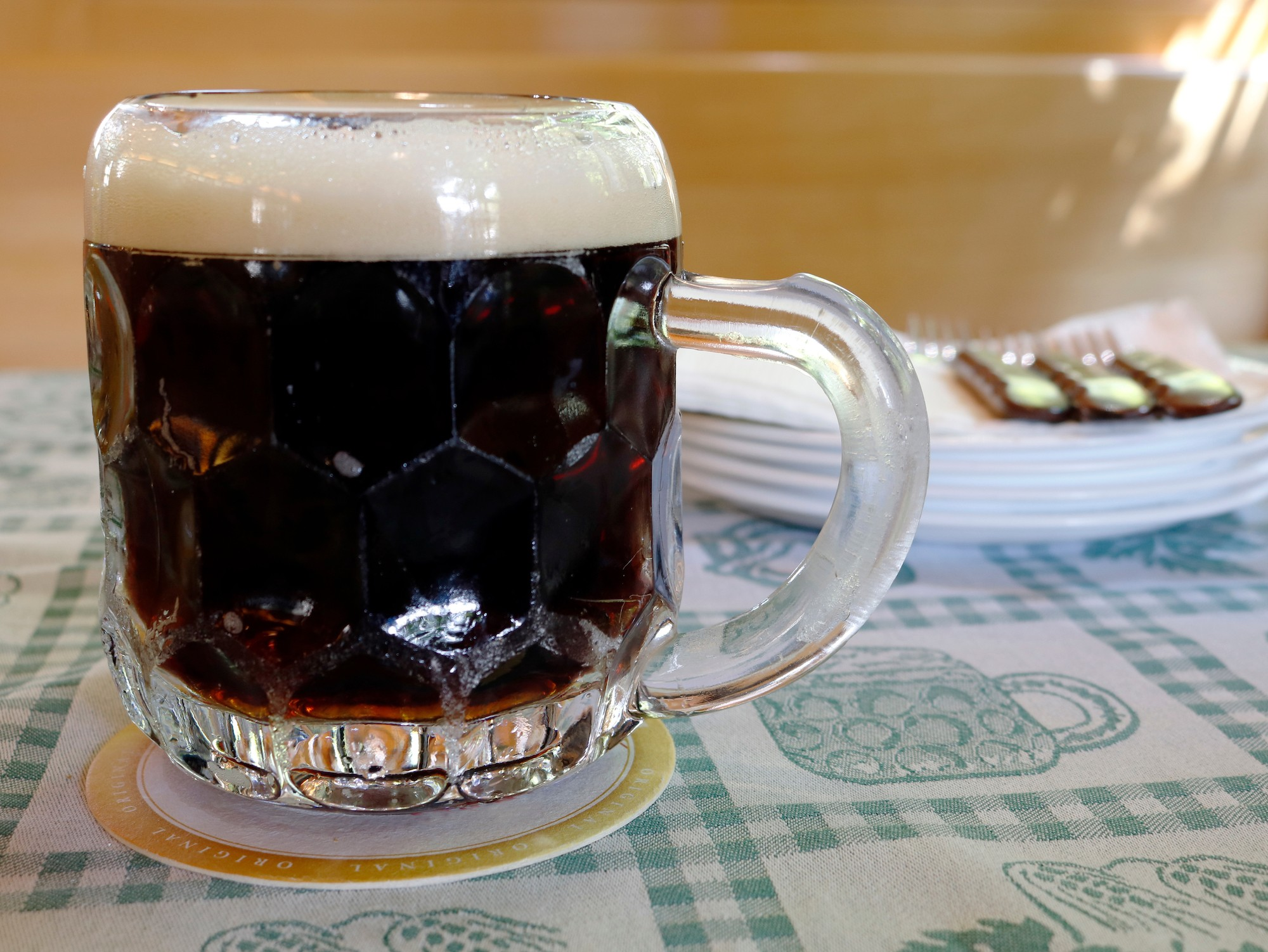 dark lager in european city