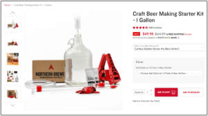 norther brewer 1 gallon small batch homebrew kits