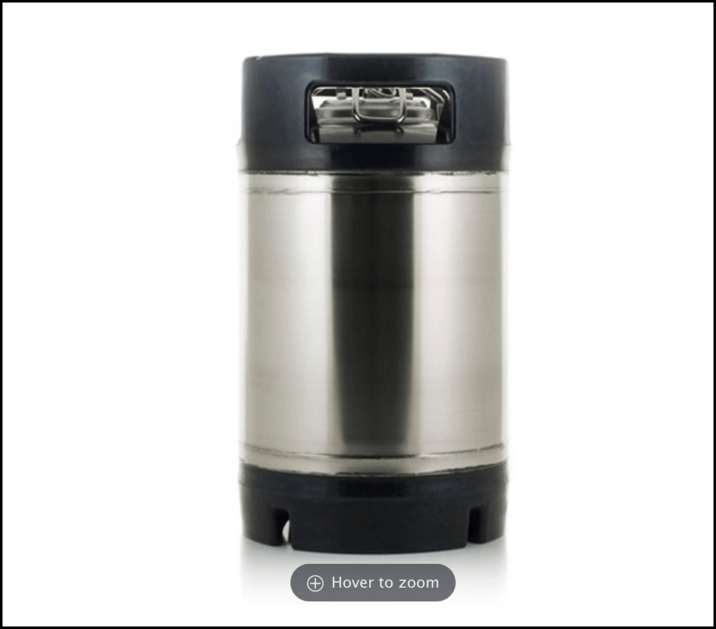 1.75 gallon ball lock keg